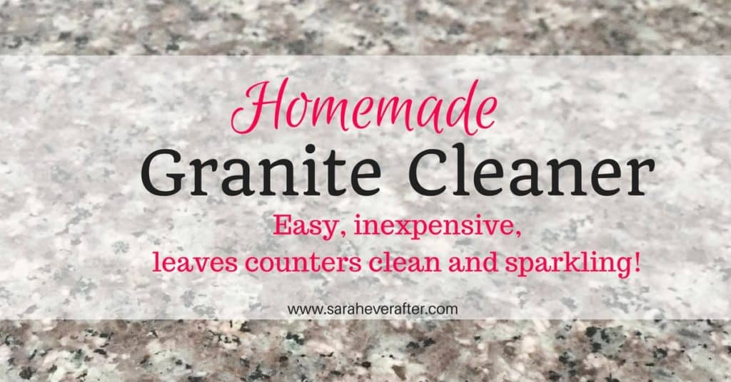 An Easy-to-Make, Inexpensive Homemade Granite Cleaner that will leave your counters clean and sparkling!